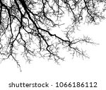 realistic tree silhouette ... | Shutterstock .eps vector #1066186112