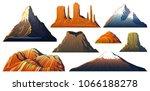 mountains peaks  landscape... | Shutterstock .eps vector #1066188278
