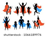 dad and kids  boy and girl...   Shutterstock .eps vector #1066189976