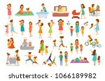 cute cartoon mother and... | Shutterstock .eps vector #1066189982