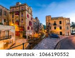 beautiful residential area in... | Shutterstock . vector #1066190552