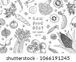 organic food design template.... | Shutterstock .eps vector #1066191245