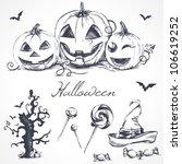 halloween design elements | Shutterstock .eps vector #106619252