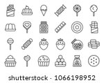 sweets and candy icon set 1 2 ... | Shutterstock .eps vector #1066198952