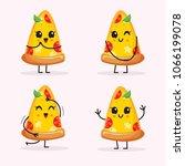cartoon pizza slice character   Shutterstock .eps vector #1066199078
