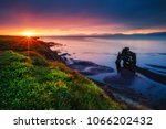 peaceful view of the atlantic... | Shutterstock . vector #1066202432