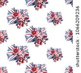 retro british seamless pattern... | Shutterstock .eps vector #1066209236