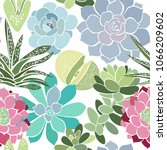 seamless pattern with a... | Shutterstock .eps vector #1066209602