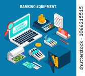 banking equipment including... | Shutterstock .eps vector #1066215515