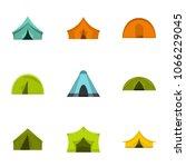outdoor tent form icon set.... | Shutterstock . vector #1066229045