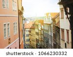 view to red tile roofs of...   Shutterstock . vector #1066230332