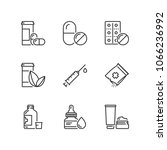 outline icons about medicines | Shutterstock .eps vector #1066236992