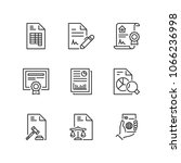 outline icons about legal... | Shutterstock .eps vector #1066236998