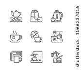 outline icons about coffee and... | Shutterstock .eps vector #1066237016