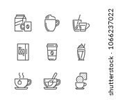 outline icons about drinks ... | Shutterstock .eps vector #1066237022