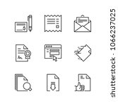 outline icons about documents | Shutterstock .eps vector #1066237025