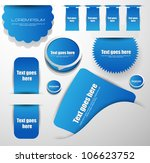 web stickers labels and badges | Shutterstock .eps vector #106623752