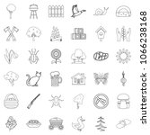 settlement icons set. outline... | Shutterstock . vector #1066238168
