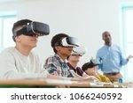 multicultural schoolchildren... | Shutterstock . vector #1066240592