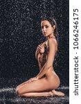 sexy woman in shower.... | Shutterstock . vector #1066246175