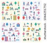 vector backgrounds in flat... | Shutterstock .eps vector #1066251752