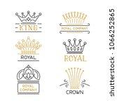 crowns logo set. luxury signs... | Shutterstock .eps vector #1066252865