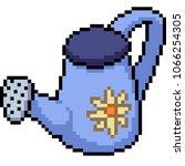 Vector Pixel Art Watering Can...