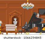 vip vintage interior furniture... | Shutterstock .eps vector #1066254845