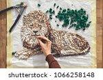 artist working  holding...   Shutterstock . vector #1066258148
