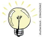light bulb cartoon illustration ... | Shutterstock .eps vector #1066263662