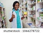 african american pharmacist...   Shutterstock . vector #1066278722