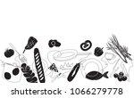 cooking horizontal pattern.... | Shutterstock .eps vector #1066279778