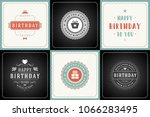 happy birthday greeting cards...   Shutterstock .eps vector #1066283495