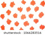 red painted spot background. | Shutterstock . vector #1066283516