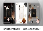 gold  rose gold  black and... | Shutterstock .eps vector #1066285082