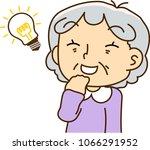 grandmother looks like... | Shutterstock .eps vector #1066291952