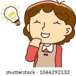 mother looks like understand | Shutterstock .eps vector #1066292132