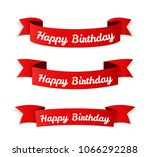 red banners with 'happy... | Shutterstock .eps vector #1066292288