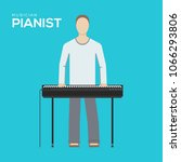 pianist illustration symbol... | Shutterstock .eps vector #1066293806