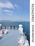 july 17 2016  big car ferry...   Shutterstock . vector #1066294256