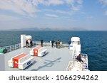 july 17 2016  big car ferry...   Shutterstock . vector #1066294262