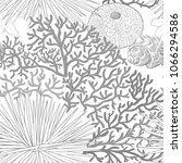 sea world seamless pattern ... | Shutterstock .eps vector #1066294586
