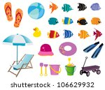 beach elements | Shutterstock .eps vector #106629932