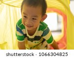 asian boy have smile and... | Shutterstock . vector #1066304825