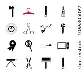 icon instruments and tools with ... | Shutterstock .eps vector #1066305092