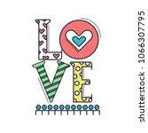 love decoration vector outline...   Shutterstock .eps vector #1066307795