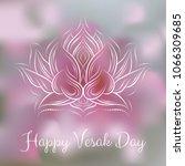 banner for vesak day with pink... | Shutterstock .eps vector #1066309685