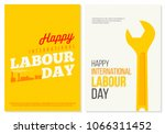 happy international labour day... | Shutterstock .eps vector #1066311452