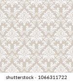 beautiful damask pattern. royal ... | Shutterstock . vector #1066311722