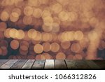 wooden top table with blurred... | Shutterstock . vector #1066312826